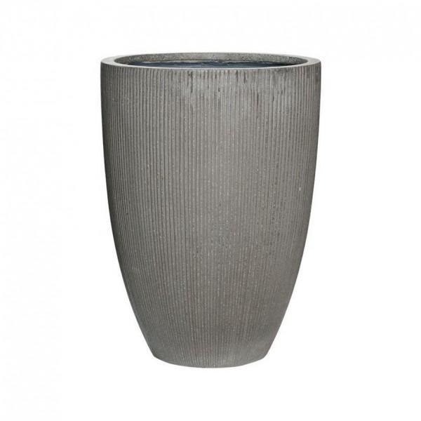 Ben Ridged Grey Pflanzvase - Eco Ficonstone