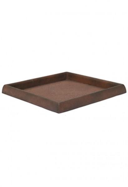 Untersetzer quadratisch für Pflanzkübel | Artline Rost | Die Palme
