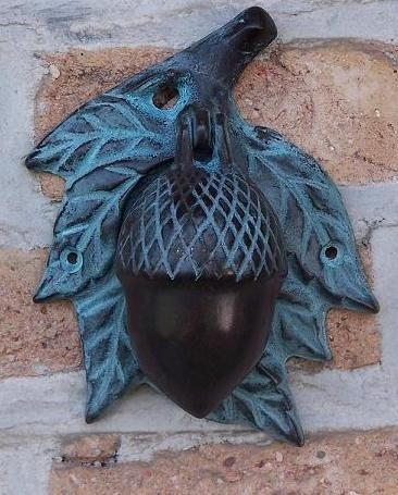 Bronze Türklopfer Eichel