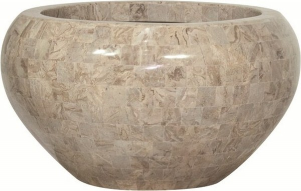 Pflanzschale Geo Crown cappuccino marble