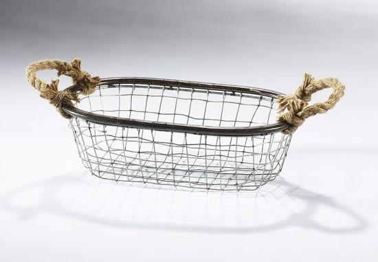 Onda Drahtkorb-oval-aus-Metalldraht-mit-Seilgriffen