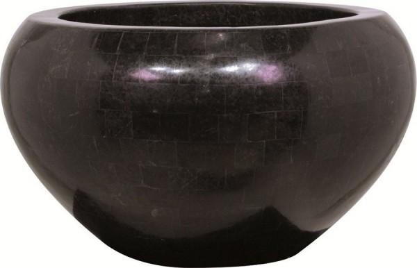 Geo Crown black polished   Pflanzschale