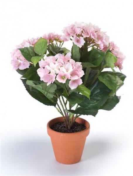 Hydrangea pink 11 cm | Hortensie Kunstpflanze im Topf