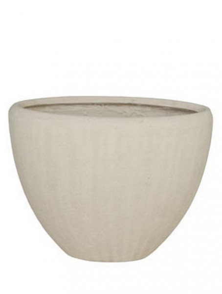 Polystone Oval Pflanzvase Natural 38 cm