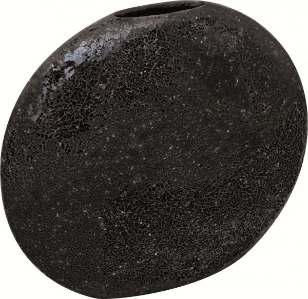 Moon black | Glasmosaik Vase