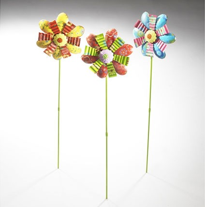 Kunis 3er Set | Deko-Blume auf Stab