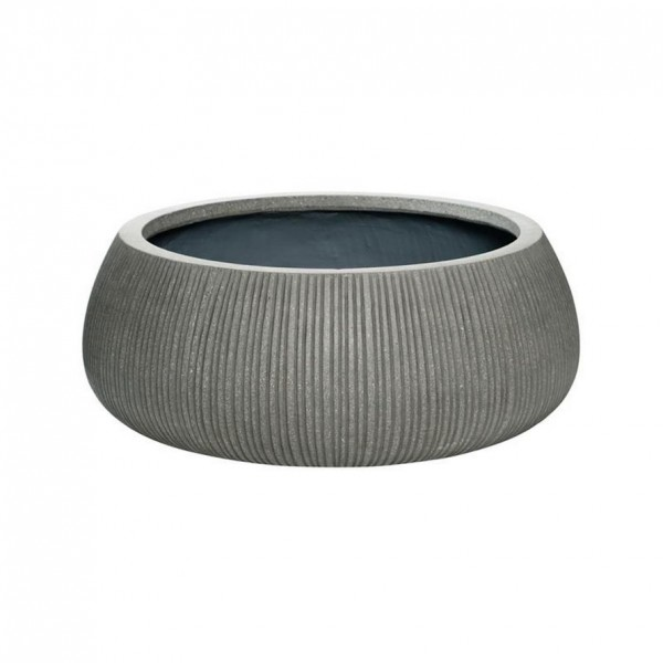 Eileen Ridged Grey Pflanzschale - Eco Ficonstone