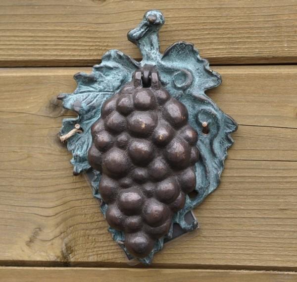 Bronze Trauben Türklopfer
