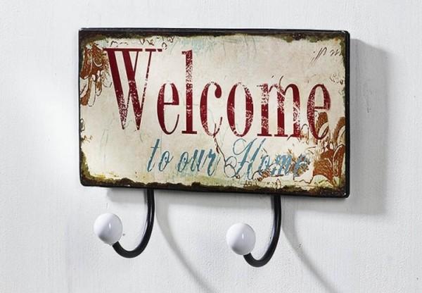 Garderobe Hakenleiste mit 2 Haken aus Metall | Welcome to your home