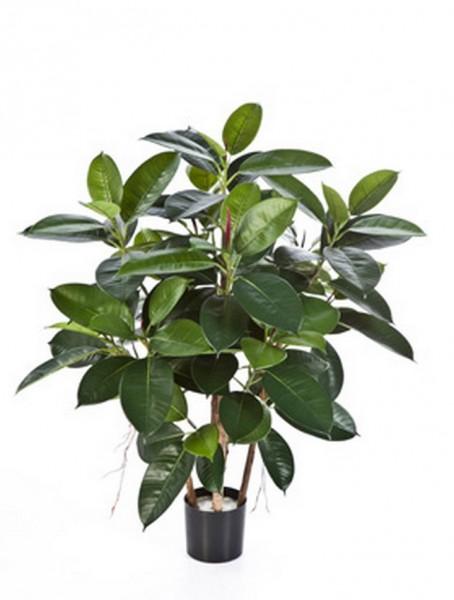 Ficus elastica 90 cm | künstlicher Gummibaum