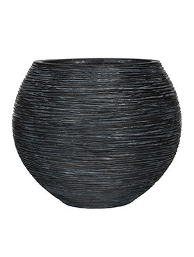 Pflanzkübel Riffel Kugel | Capi Nature Otello schwarz