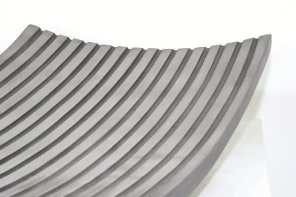 Lines Plate Fiberglas Deko Schale | Aluminium
