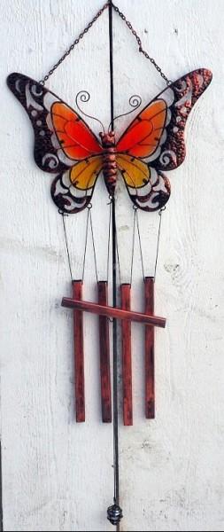 Lepi-Schmetterlings-Motiv-Windspiel-Tiffany-Glas