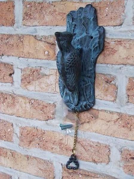 Specht Türklopfer aus Bronze
