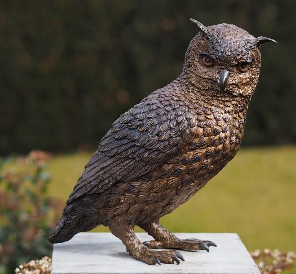 Eule Mina aus Bronze