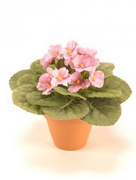 Saintpaulia ionantha pink 11 cm | Usambaraveilchen Kunstpflanze im Topf