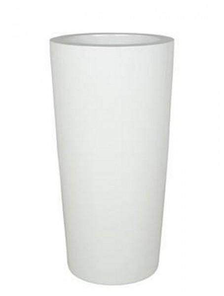 Krappa Bamboo Pflanzgefäß | Hochglanz Weiß