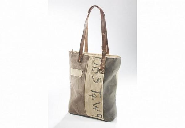 Tawa - Canvas Vintage Tasche mit Lederhenkel