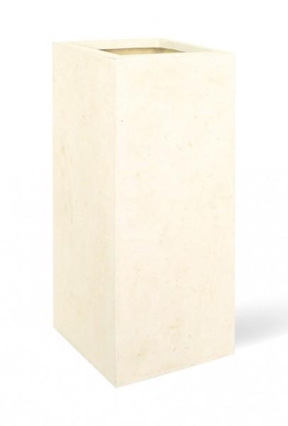 Style creme Polystone Pflanzsäule 70 cm