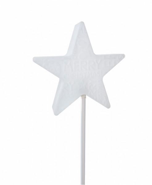Star Merry X-Mas On Stick   Stern Außenleuchte auf Stab