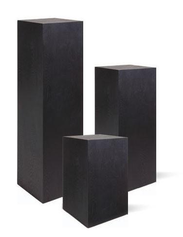 Penthouse Holzpodest   Dekosäule schwarz