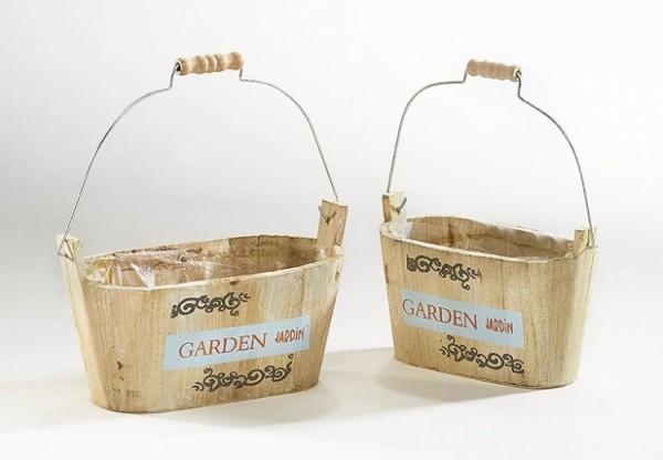 Pflanzgefäß oval 2er Set weiß zum Bepflanzen - Garden Jardin