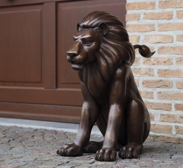 Löwe Leon Bronzefigur