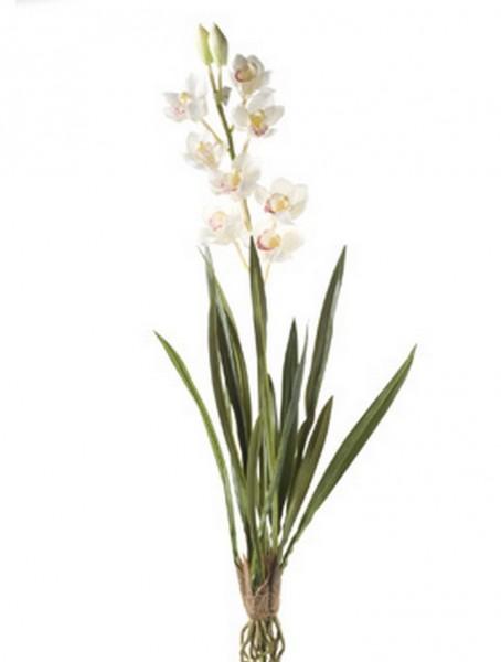Cymbidium creamweiß 90 cm   Orchideen Kunspflanze