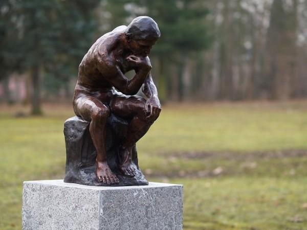Rodin -  Kleiner Denker | Bronzefigur