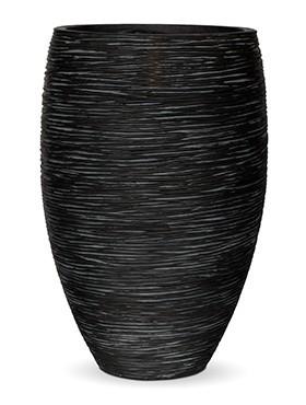 Pflanzvase Riffel Elegance   Capi Nature Otello schwarz