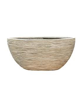 Pflanzkübel Riffel Oval | Capi Nature Otello elfenbein
