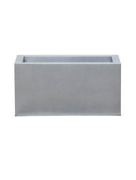 Zink Metallook Recta Pflanzkasten 50 cm