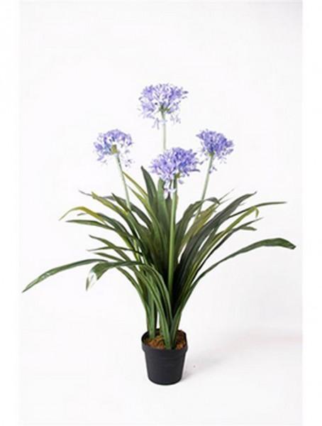 Schmucklilie blau 100 cm | Agapanthus Kunstpflanze