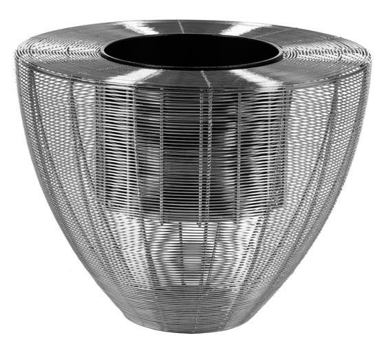 Wire Planter Weaving | Metalldraht-Pflanzgefäß