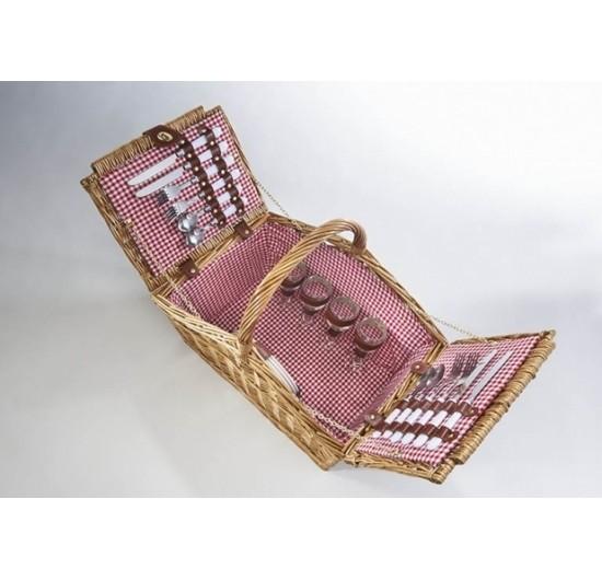 Karlo Weiden Picknickkoffer für 4 Personen