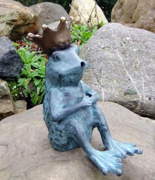 Froschkönig-Bronzefigur