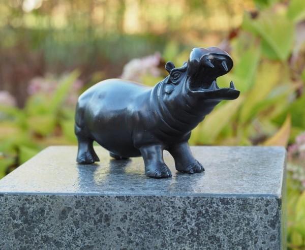 Nielpferd Nelly - Hippo Bronzefigur