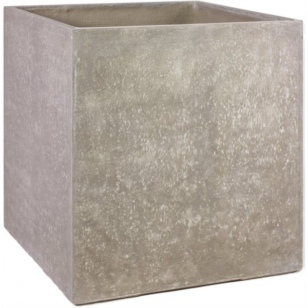 Division Cube naturbeton   Pflanzkübel